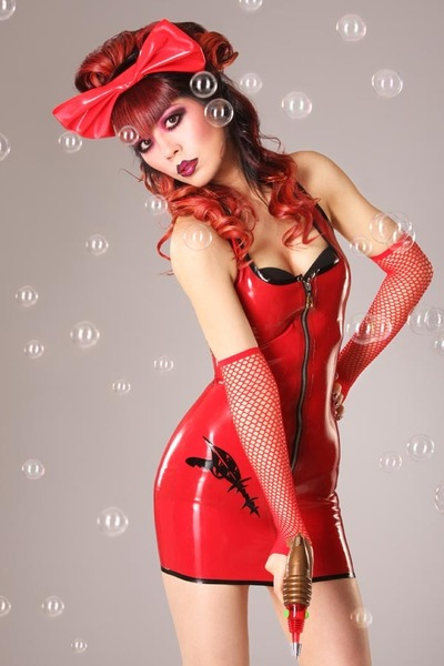 latex deadly couture dress