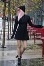 Black-black-morph8ne-dress-black-knit-long-clothing-hat