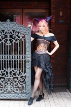 long lace skirt lace skirt - corset Dracula Clothing top