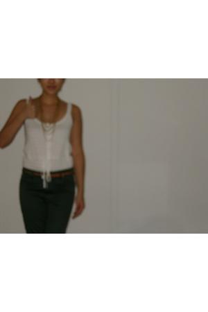 Old Navy top - Cheap Monday pants - UO belt - vintage necklace