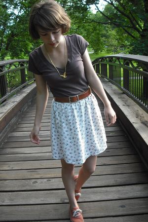 Urban Outfitters shirt - gift skirt - thrifted necklace - vintage from Ebay belt