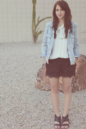 black lace madewell shorts