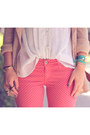 Brick-red-polka-dot-jeans-ag-pants-light-brown-backpack-forever21-bag