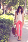 Brick-red-polka-dot-jeans-ag-pants-light-brown-backpack-forever21-bag