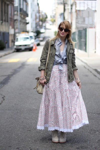 neutral floral maxi Betsey Johnson dress