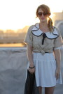 White-vintage-dress-brick-red-booties-anthropologie-boots