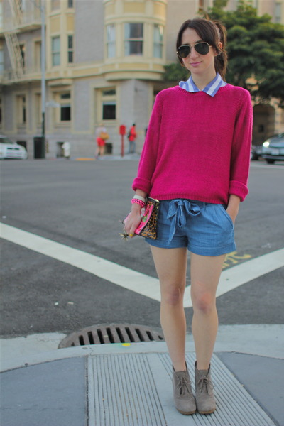 Hot Pink H&M Knit Sweater | Chictopia