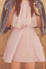 Periwinkle-70s-vintage-dress-ivory-booties-rachel-comey-shoes