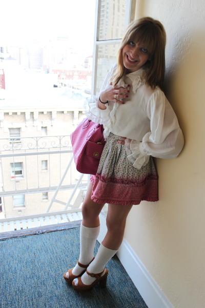 hot pink Betsey Johnson skirt