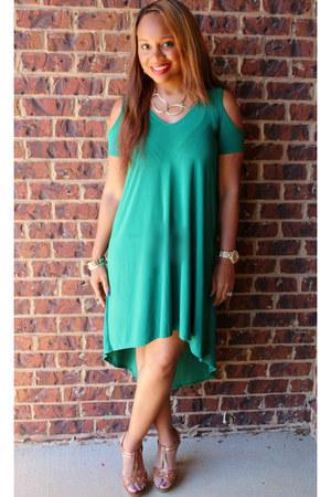 emerald green Trish M Fashions dress