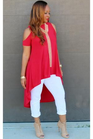 red Trish M Fashions top