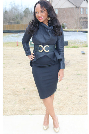 black SB Boutique blazer - black Mossimo skirt