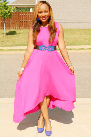 hot pink pink Pretty Peices Boutiue dress