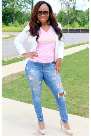 pink and yellow Trish M Fab Tees t-shirt - denim SB Boutique jeans