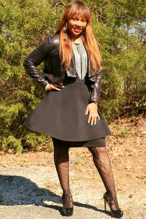 black Dillards blazer - fishnet Target tights - black Steve Madden heels