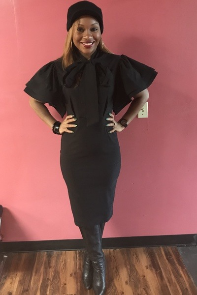 black Trish M Fashions dress