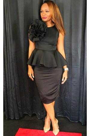 black peplum Trish M Fashions top