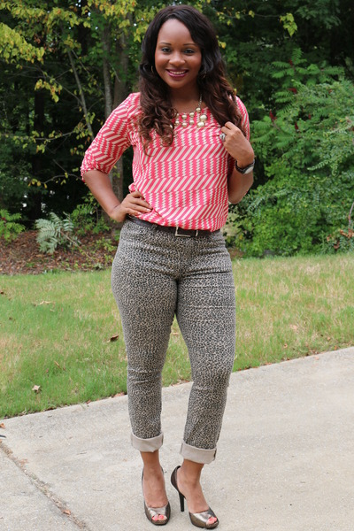 Animal Print Catos Jeans Coral Chevron Jennifer Lopez Blouses