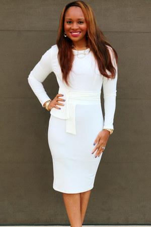 white Trish M Fashions dress