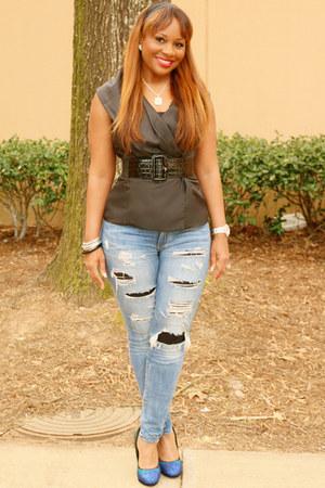 black black calvin klein top - navy denim SB Boutique jeans