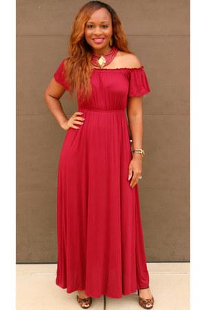 ruby red burgandy Trish M Fashions dress
