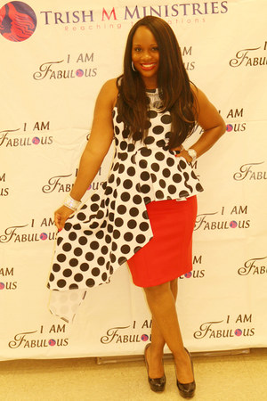 polka dots Dressed By An Angel Boutique top - red Express skirt