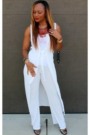 white Trish M Fashions jumper