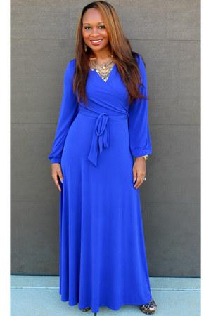 royal blue Trish M dress