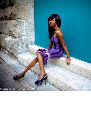 purple destyne dress
