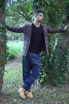 navy harem pants Zara jeans - mustard alcampo boots