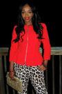 Leopard-print-pants