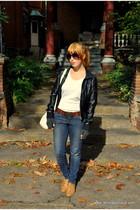H&M jacket - Heritage 1981 shirt - Heritage 1981 cardigan - Forever 21 jeans - F