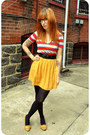 Red-striped-v-neck-bdg-shirt-black-braided-forever-21-belt-mustard-pleated-c