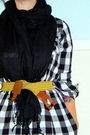 Black-delias-dress-black-unknown-scarf-yellow-old-navy-belt-black-nature-b