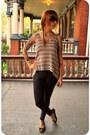 Black-leatherette-american-apparel-leggings-dark-brown-tortoise-shell-forever-