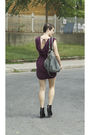 Red-wilfred-dress-black-jeffrey-campbell-shoes-gray-deux-lux-purse