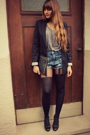 H&M blazer - Primark shorts - New Yorker t-shirt - zalando pumps