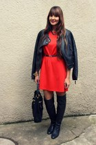 Zara boots - H&M dress - Pimkie jacket
