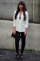 Zara jeans - Mango blouse