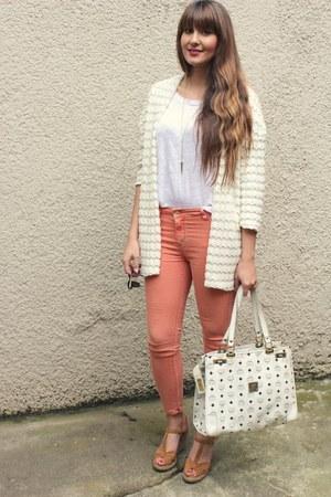 H&M cardigan - MCM bag - Zara pants