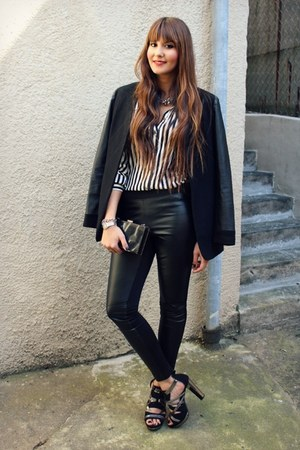 New Yorker leggings - asoscom blazer - Deichmann sandals