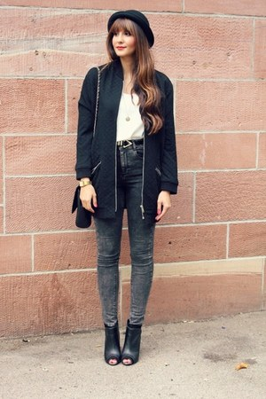 Promod coat - Tally Wijl boots - asos jeans