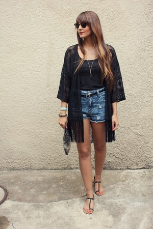 Zara bag - Primark shorts - H&M cardigan