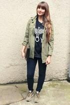 Zara jacket - Sheinside sweater - nike sneakers
