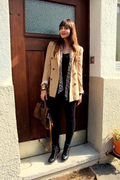 Zara blazer - Pimkie boots - Pimkie bag