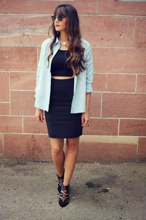 H&M skirt - Zara heels