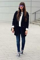 Converse shoes - Zara coat