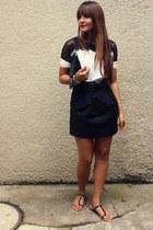 Sheinside blouse - Zara bag - Zara skirt