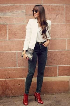 Zara blazer - asos jeans - Zara sandals