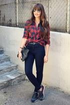 Zara blouse - asos jeans - nike sneakers